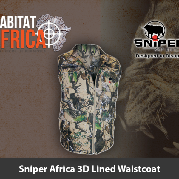 Sniper Africa 3D Lined Waistcoat