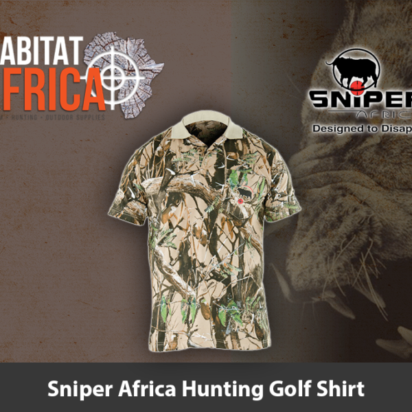Sniper Africa Hunting Golf Shirt
