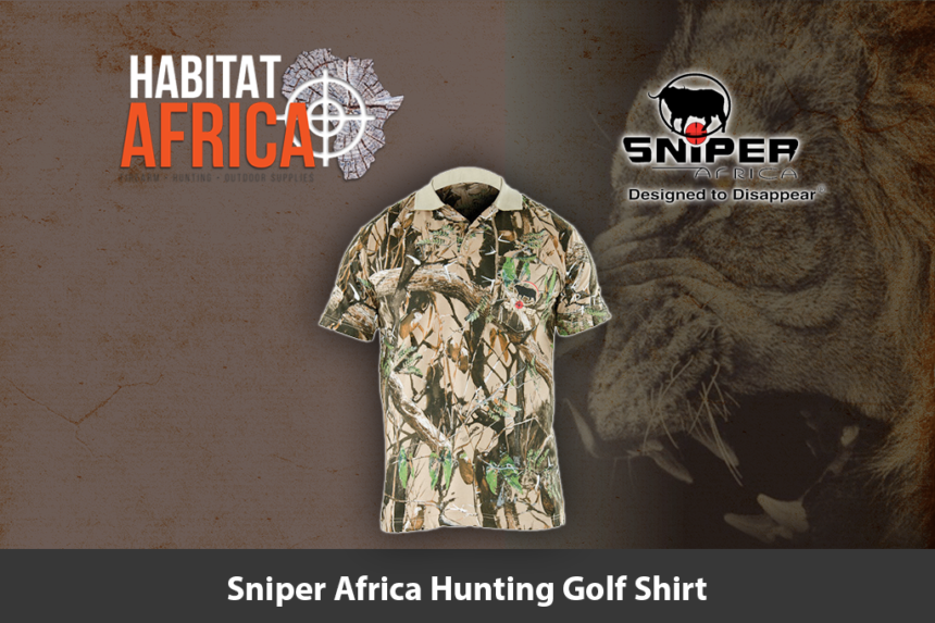 Sniper Africa Hunting Golf Shirt