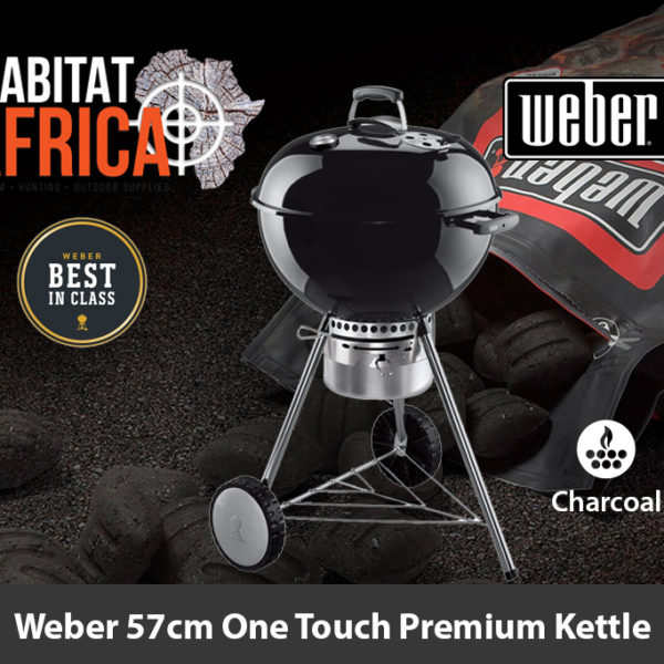 Weber 57cm One Touch Premium Kettle Charcoal Braai