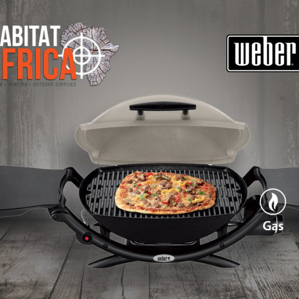 Weber Q 2000 Portable Gas Grill - Open Lid