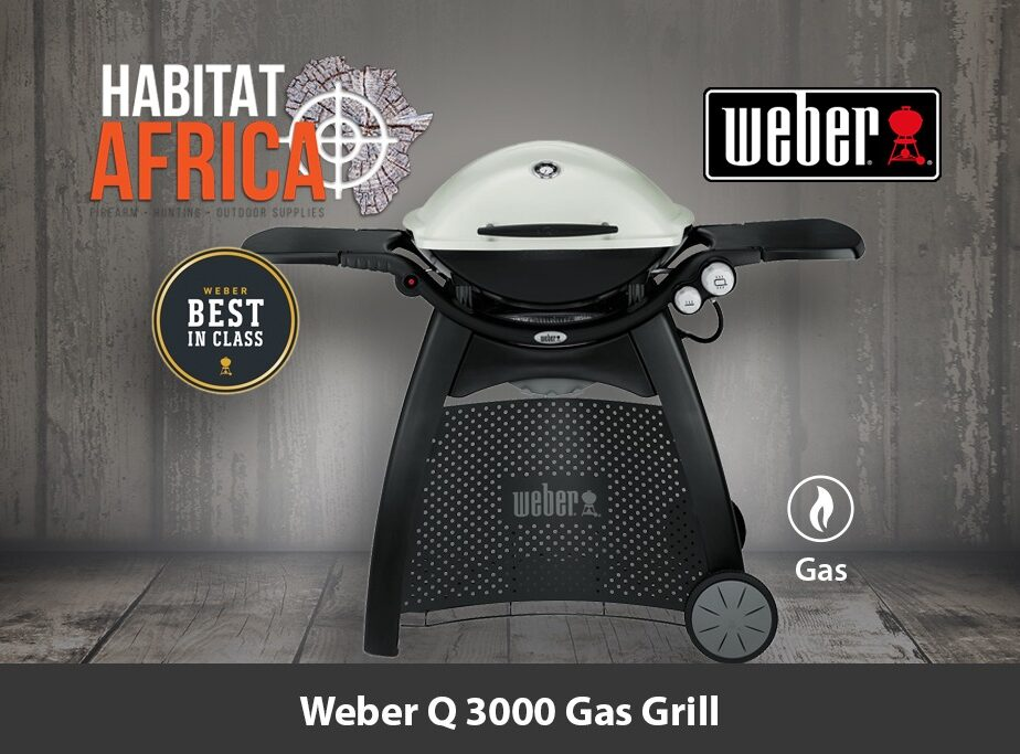 weber q 3000 portable gas grill habitat africa camping. Black Bedroom Furniture Sets. Home Design Ideas