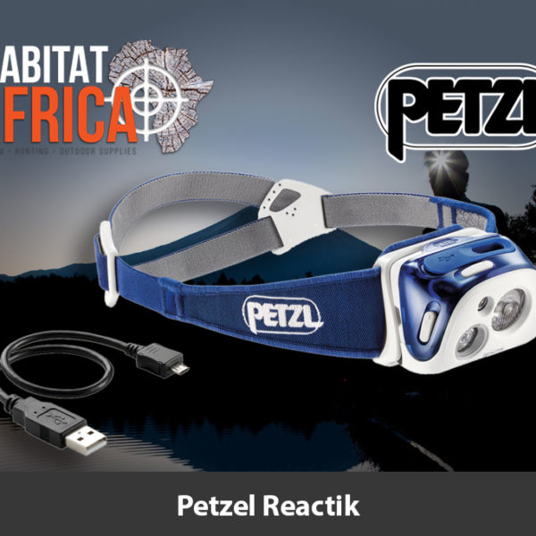 Petzl Reactik Headlamp in Blue