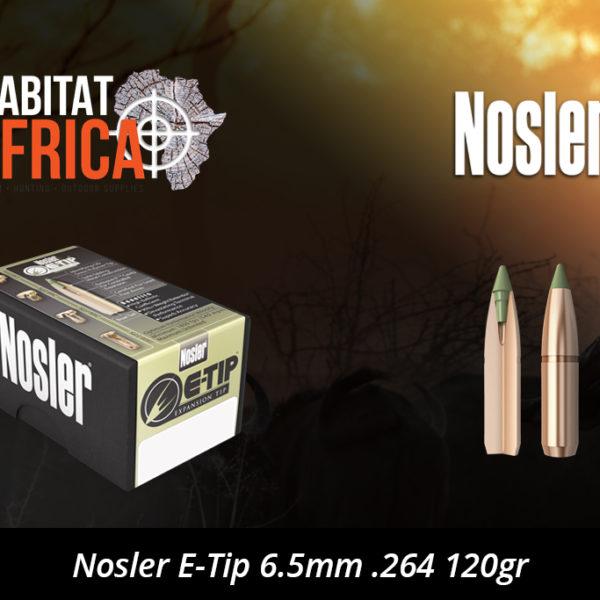 Nosler E-Tip 6.5mm .264 120gr Bullet