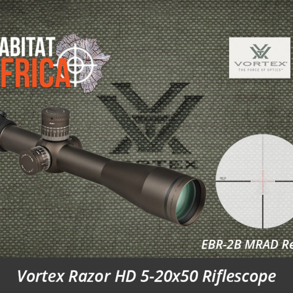 Vortex Razor HD 5-20x50 Riflescope EBR-2B MRAD Reticle - Habitat Africa | Gun Shop | South Africa