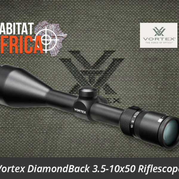 Vortex DiamondBack 3.5-10x50 Riflescope Dead-Hold BDC MOA Reticle Side View - Habitat Africa | Gun Shop | South Africa