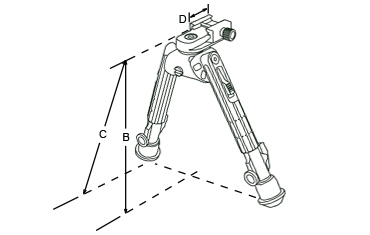 Leapers UTG 360 Degree Recon Tactical Bipod Specifications
