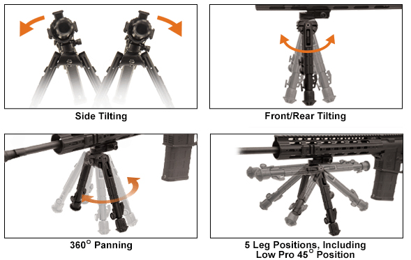 Leapers UTG 360 Degree Recon Tactical Bipod