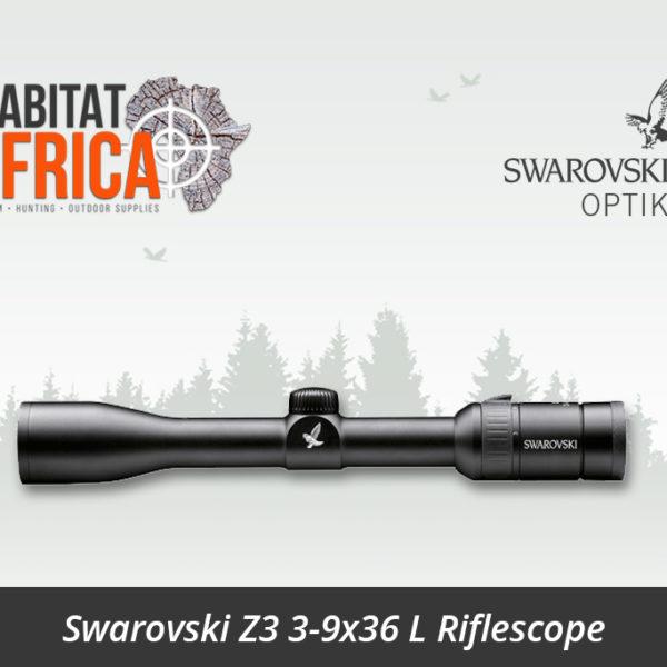 Swarovski Z3 3-9x36 L Riflescope Turrets - Habitat Africa | Gun Shop | South Africa