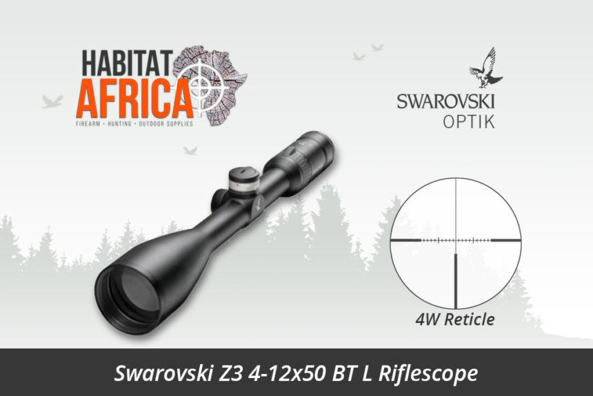 Swarovski Z3 4 12x50 Bt L Riflescope 4w Reticle Habitat