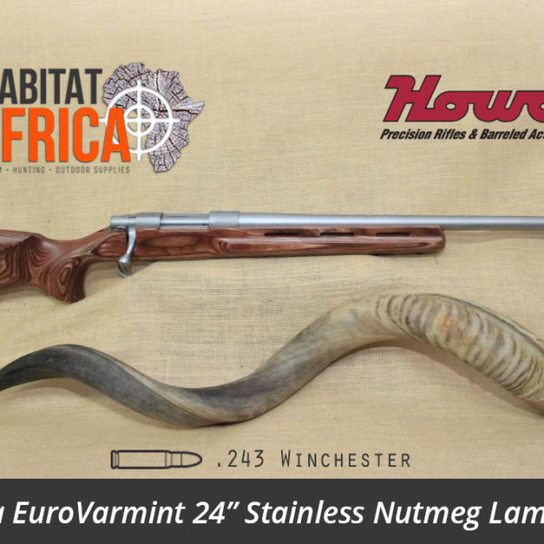 Howa EuroVarmint 24 inch 243 Winchester Stainless Nutmeg Laminate - Habitat Africa | Gun Shop | South Africa