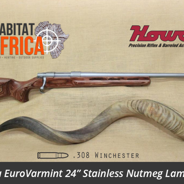 Howa EuroVarmint 24 inch 308 Winchester Stainless Nutmeg Laminate - Habitat Africa | Gun Shop | South Africa