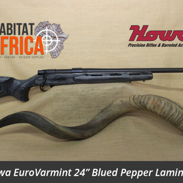 Howa EuroVarmint 24 inch Blued in Pepper Laminate Stock