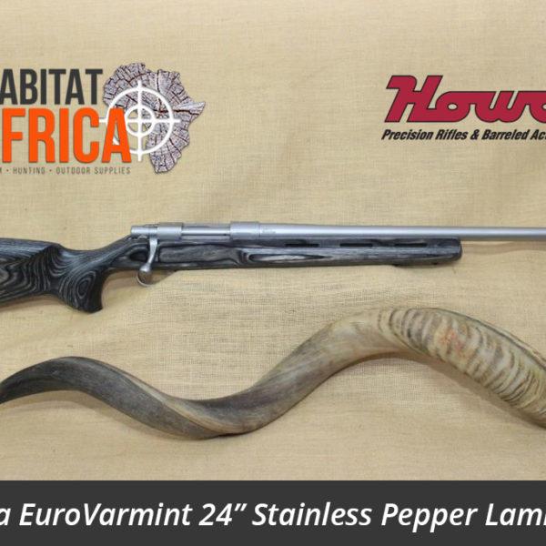 Howa EuroVarmint 24 inch Stainless Steel in Pepper Laminate Stock