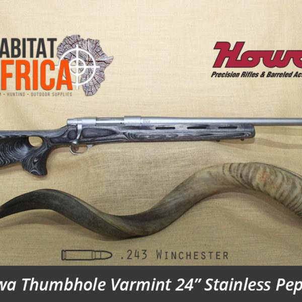 Howa Thumbhole Varmint 24 inch 243 Winchester Stainless Pepper Laminate - Habitat Africa | Gun Shop | South Africa