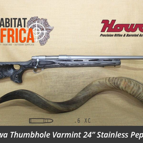 Howa Thumbhole Varmint 24 inch 6 XC Stainless Pepper Laminate - Habitat Africa | Gun Shop | South Africa