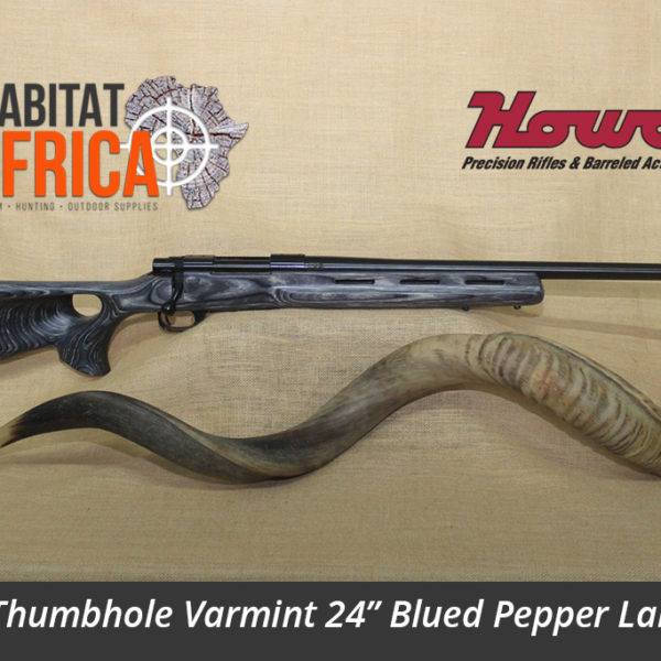 Howa Thumbhole Varmint 24 inch Blued in Pepper Laminate Stock