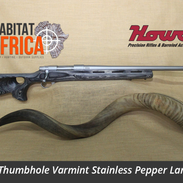 Howa Thumbhole Varmint Stainless Steel in Pepper Laminate Stock