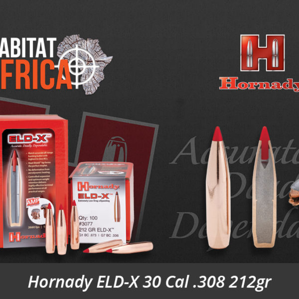 Hornady ELD-X 30 Cal .308 212gr Bullets