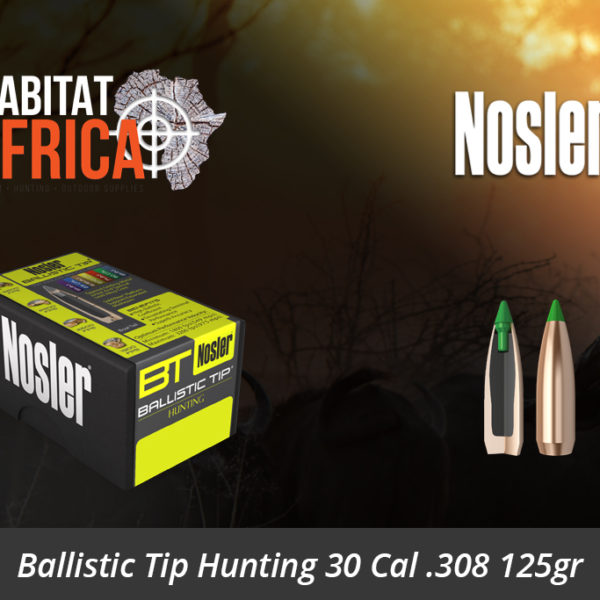 Nosler Ballistic Tip Hunting 30 Cal 308 125gr Bullets 50pts