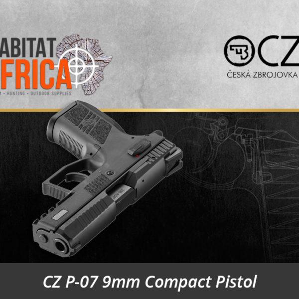 CZ P-07 9mm Compact Pistol - Habitat Africa | Gun Shop | South Africa