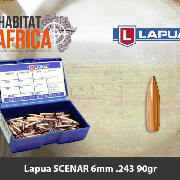 Lapua SCENAR 6mm 243 90gr Bullets - Habitat Africa | Gun Shop | South Africa