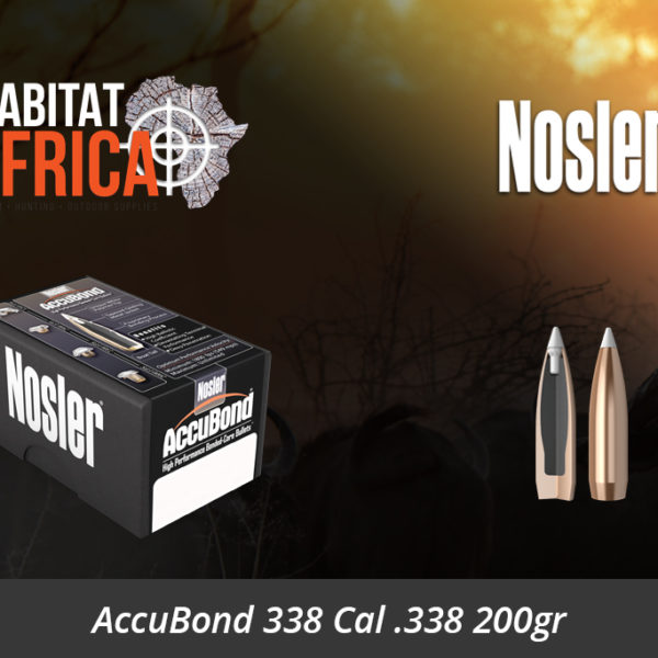 Nosler AccuBond 338 Cal 338 200gr Bullets - Habitat Africa | Gun Shop | South Africa