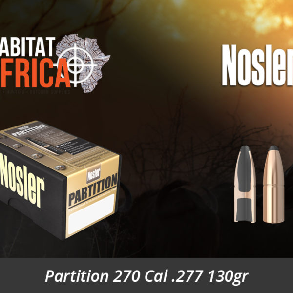 Nosler Partition 270 Cal 277 130gr Bullets - Habitat Africa | Gun Shop | South Africa