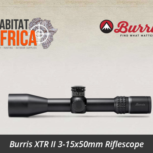 Burris XTR II 3-15x50mm SCR MOA Reticle Turrets - Habitat Africa | Gun Shop | South Africa