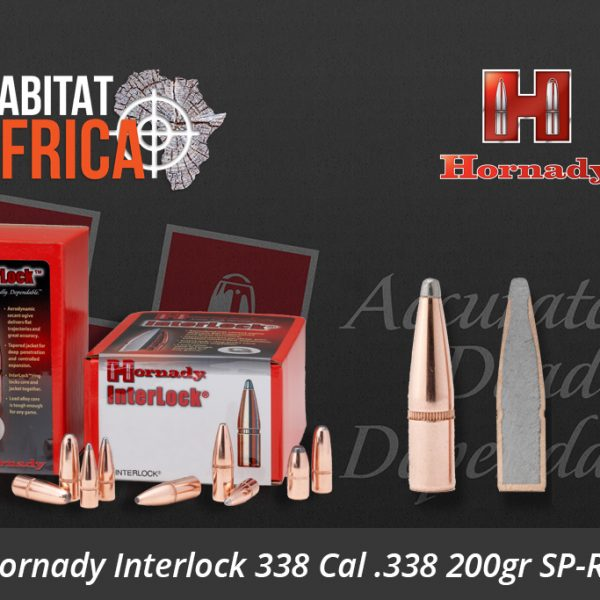 Hornady Interlock 338 Cal 338 200gr SP-RP Bullets - Habitat Africa | Gun Shop | South Africa