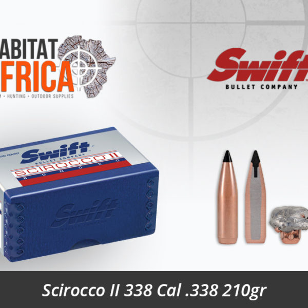 Swift Scirocco II 338 Cal 338 210gr Bullets - Habitat Africa | Gun Shop | South Africa