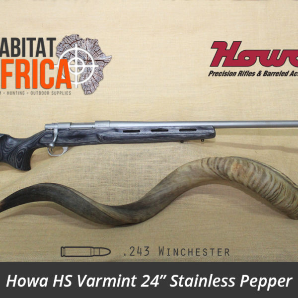 Howa HS Varmint 24 inch 243 Winchester Stainless Pepper Laminate Rifle - Habitat Africa | Gun Shop | South Africa