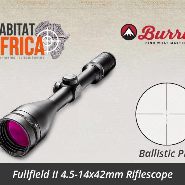 Burris Fullfield II 4.5-14x42mm Ballistic Plex Reticle
