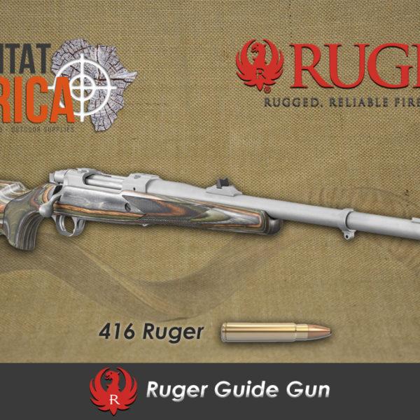 Ruger 416 Ruger Guide Gun Habitat Africa Angled