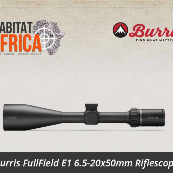 Burris FullField E1 6.5-20x50mm Ballistic Plex E1 Reticle