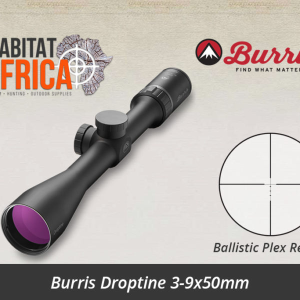 Burris Droptine 3-9x50mm Riflescope with Ballistic Plex Reticle