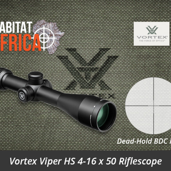 Vortex Viper HS 4-16x50 Riflescope Dead-Hold BDC MOA Reticle - Habitat Africa | Gun Shop | South Africa