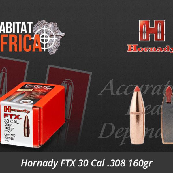 Hornady FTX 30 Cal 308 160gr