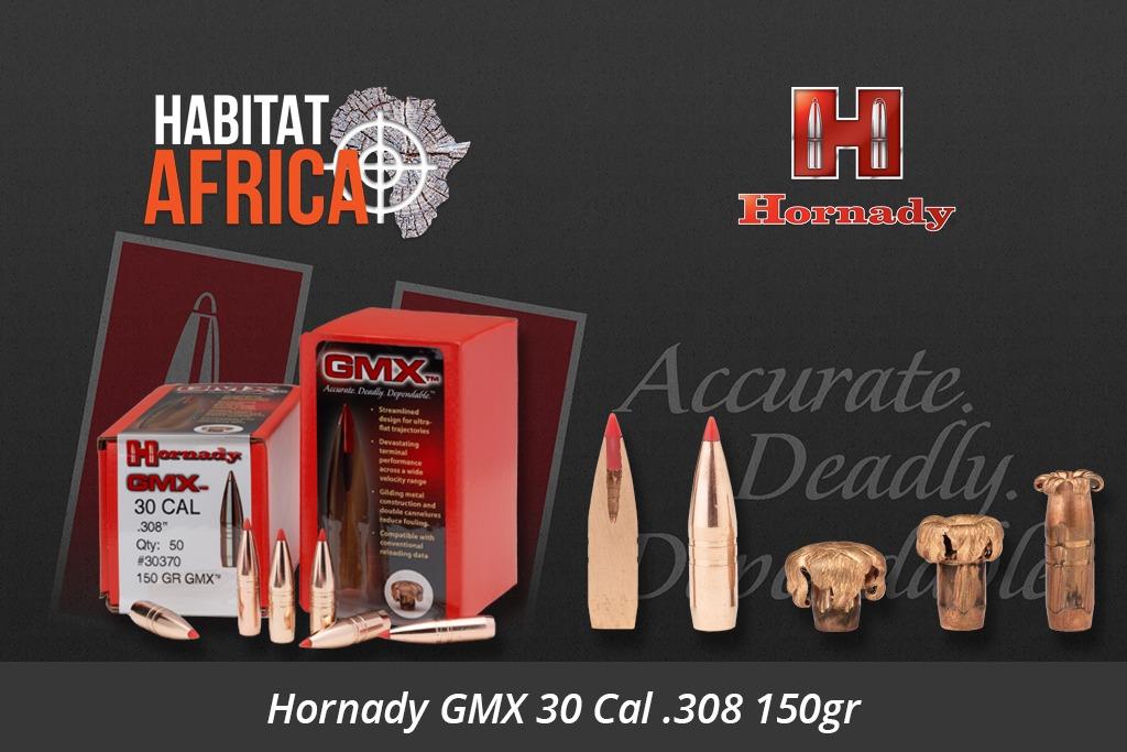 Hornady GMX 30 Cal 308 150gr Bullets 50pts