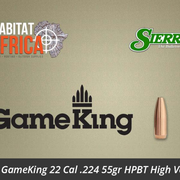 Sierra GameKing 22 Cal 224 55gr HPBT Bullets