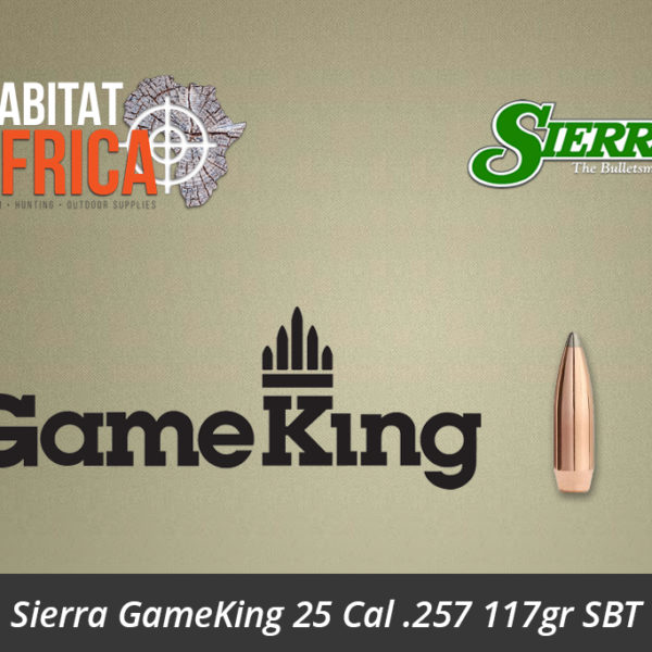 Sierra GameKing 25 Cal 257 117gr SBT