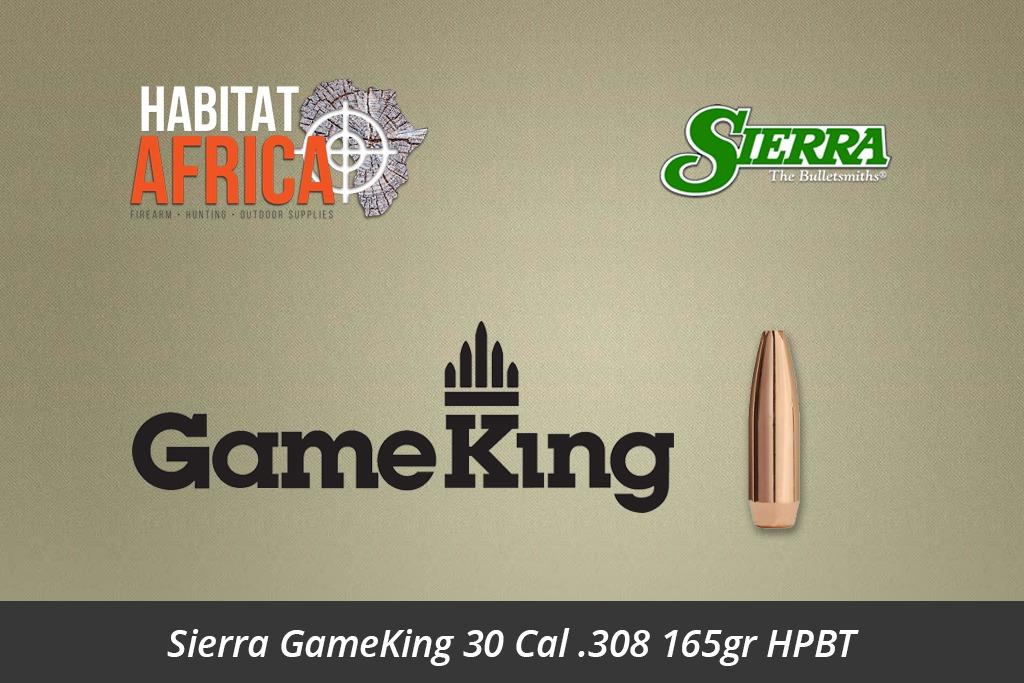 Sierra GameKing 30 Cal 308 165gr HPBT Bullets 100pts
