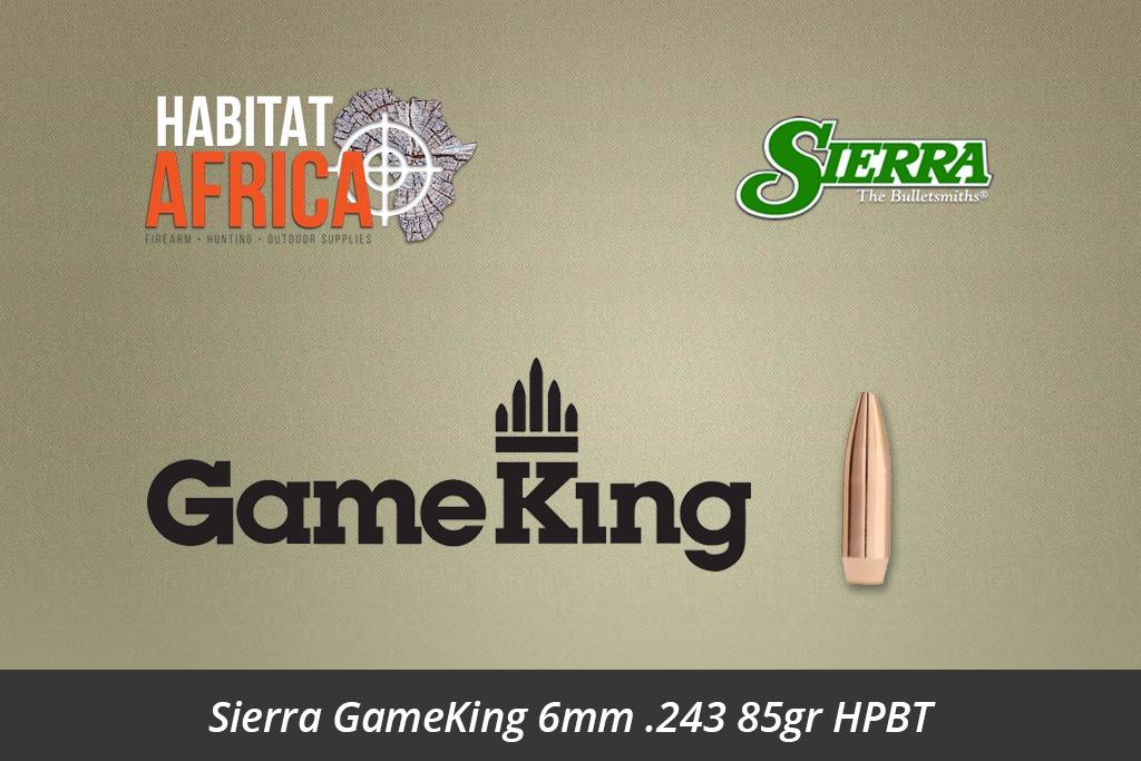 Sierra GameKing 6mm 243 85gr HPBT Bullets 100pts