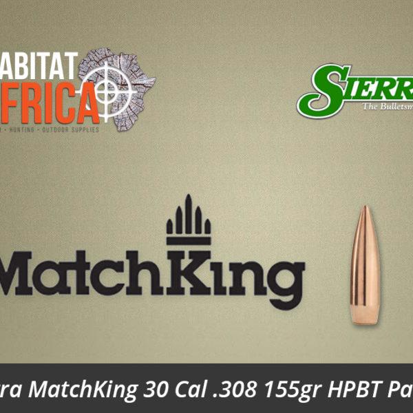 Sierra MatchKing 30 Cal 308 155gr HPBT Palma Bullet