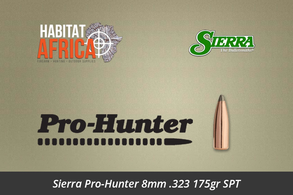 Sierra Pro-Hunter 8mm 323 175gr SPT Bullets 100pts