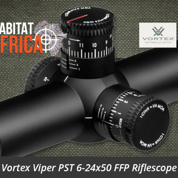 Vortex Viper PST 6-24x50 FFP Riflescope EBR-1 MRAD Reticle Turret