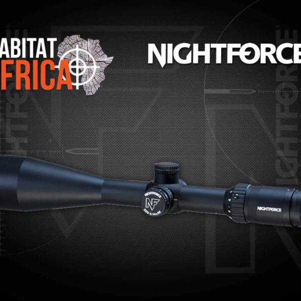 NightForce SHV 4-14x56 Riflescope with .25 MOA - MOAR - Non Illuminated Reticle - Side View