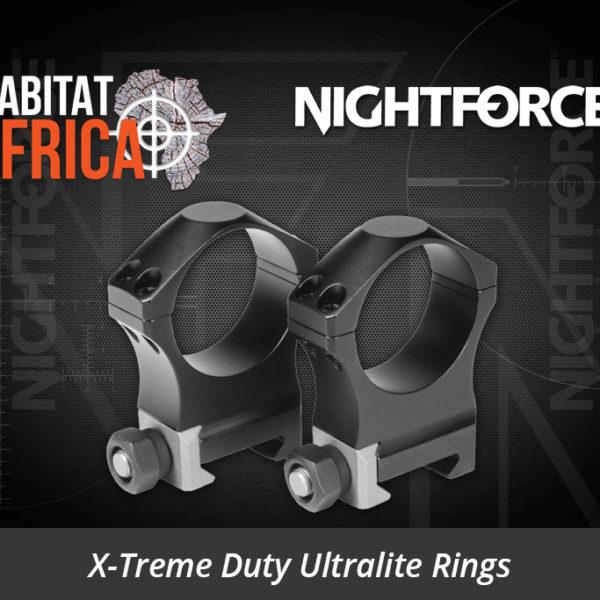 Nightforce X-Treme Duty Ultralite Rings 34mm 4 Bolt