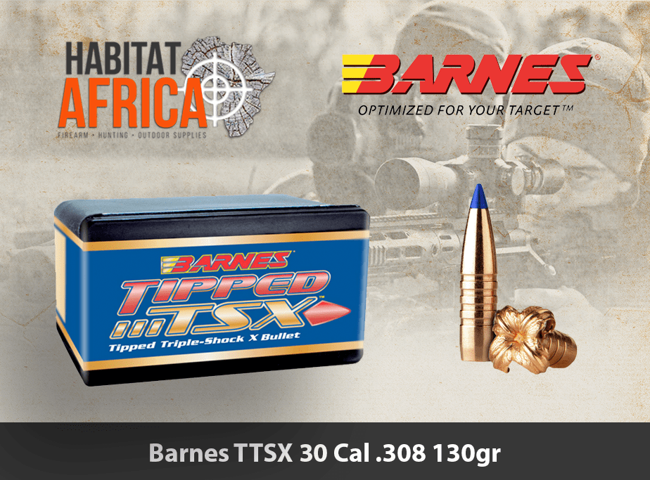 Barnes TTSX 30 Cal 308 130gr Bullet 50pts - Habitat Africa ...
