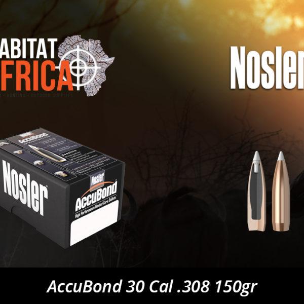 Nosler AccuBond 30 Cal 308 150gr Bullet